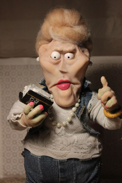 """Mrs. Ruth Walton"" Stopmotion puppet"