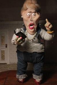 """Mrs. Ruth Walton"" Stopmotion puppet, 14 inch, 2014"